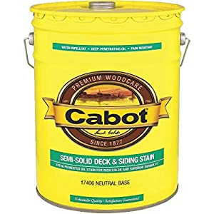 Cabot Deck And Siding Stain Neutral Base Semi-Solid 5 Gl