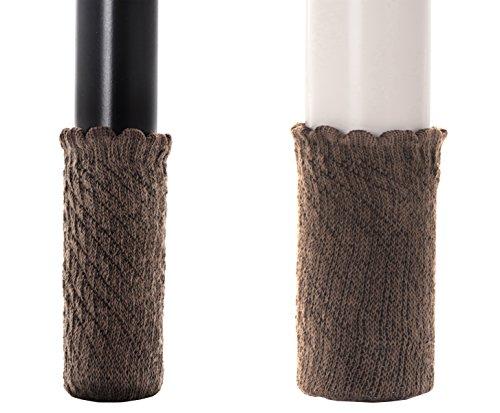 WISLIFE Brown Chair Socks,Floor Protector Felt Pads,Snug Fitting Chair Leg  Floor Protectors,Anti Skid Furniture ...