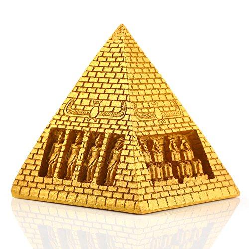 VERY100 エジプトピラミッド型  ゴールデン 樹脂 7.5×7.5×8cm 置物 インテリア ディスプレイ 景品 水槽装飾