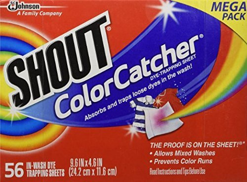 SHOUT DYE TRAPPING SHEETS COLOR CATCHER 56x2 112 TOTAL (Shout Color Catcher Sheets compare prices)