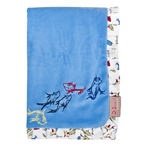 Trend Lab Dr. Seuss One Fish, Two Fish Receiving Blanket