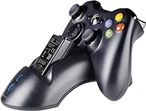 Speedlink Bridge Xbox 360 Ladestation für Controller (bis zu 10 Stunden Spielzeit, Akkus beiliegend, Ladezeit ca. 1 Stunde)