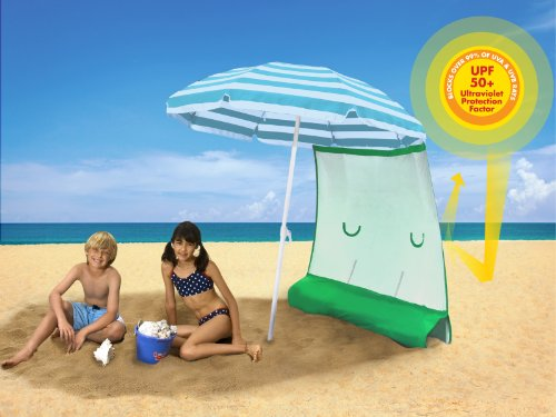 ezShade (Award Winning) - Blocks 99% UVA/UVB, Keeps you COOLER, DOUBLES your SHADE and INSTANTLY ATTACHES to ANY nylon/poly umbrella - (only 9 OZ)