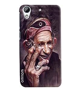 Omanm Old Baba Boozing Stylish Designer Printed Designer Back Cover Case For HTC Desire 728
