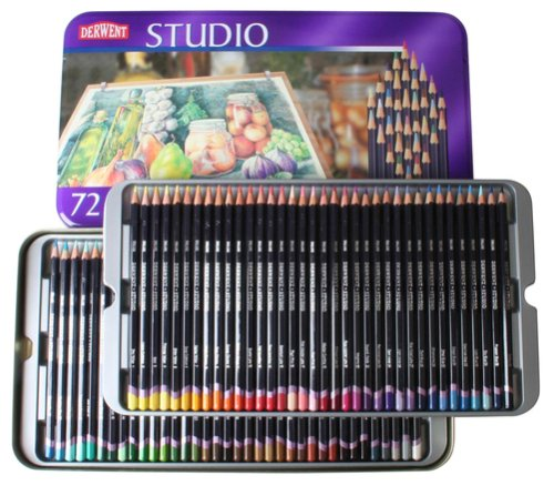 Derwent Studio Colour Pencils - Tin (72)