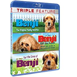 Benji Triple Feature BLU-RAY (Benji, Office the Leash and For the Love of..)