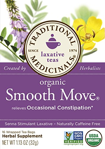 032917000095 - Traditional Medicinals Organic Smooth Move Tea, 16 Tea Bags (Pack of 6) carousel main 2
