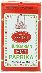 Hungarian Hot Paprika, 5-Ounce Tins (Pack of 6)
