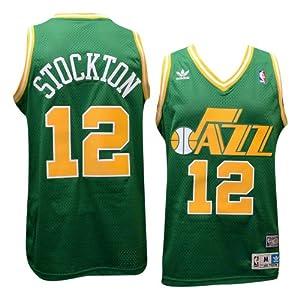 Utah Jazz #12 John Stockton NBA Soul Swingman Jersey, Green by adidas
