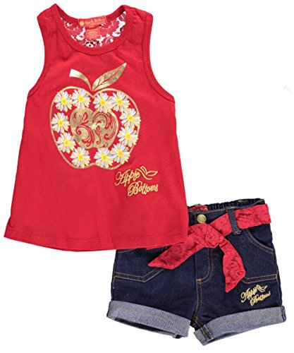 """Apple Bottoms Baby Girls' """"Magic Apple"""" 2-Piece Outfit - red, 12 months"""