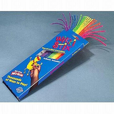They Will Not Pull Apart, But Cut Easily With Scissors - Eight Inch Wikki Stix Primary Colors (plus black and white) 48 Piece