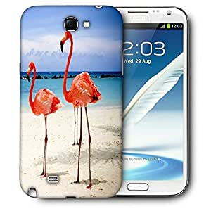 Snoogg Flamingos Printed Protective Phone Back Case Cover For Samsung Galaxy Note 2 / Note II