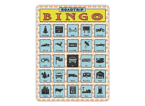 Roadtrip Bingo Family I Spy Vacation Game