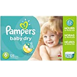 Pampers Baby Dry Economy Pack Plus, Size 6, 128 Count