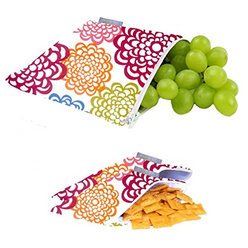 maven-gifts-itzy-ritzy-snack-happens-reusable-snack-bag-3-pack-fresh-bloom-bag-with-set-of-2-mini-fr