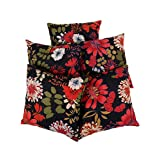Beautiful Set Of 5 Floral Black 16 X 16 Printed Cotton Cushion Cover By Rajrang