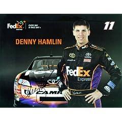 Buy 2010 Denny Hamlin #11 FedEx In-Car 8X10 SIGNED by Trackside Autographs