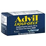 Advil Liqui-Gels Pain Reliever/Fever Reducer, 200 mg, Liquid Filled Capsules, 40 ct