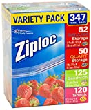 Ziploc Gallon, Quart, Sandwich, and Snack Storage Bags - 347 Total
