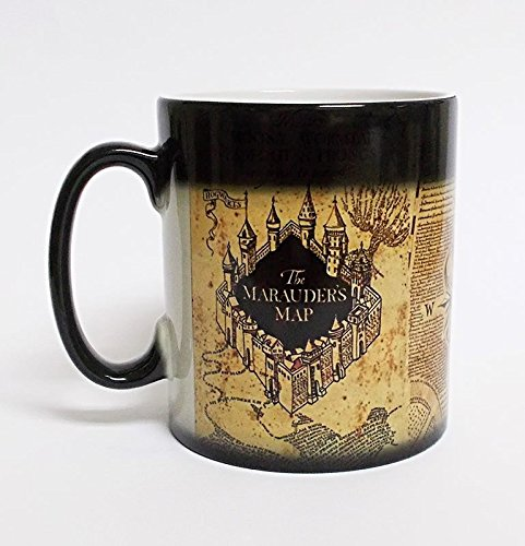 Harry Potter Marauder's Map Color Changing Magic black heat sensitive Coffee Mug by Other