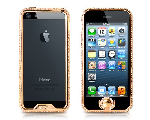 Great Sale Bumper Series iPhone 5 Crystal Case - Gold