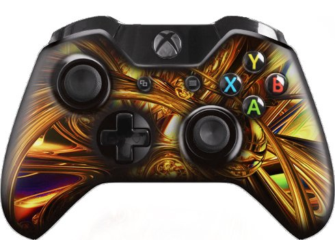 Xbox One Modified Wireless Controller (Gold Abstract) with 10 Modes of Rapid Fire (Modified Xbox Controller compare prices)