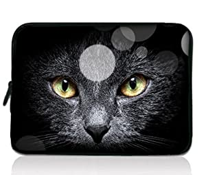 """Black Cat Design 11.6"""" 12"""" 12.1"""" inch scratch-proof Laptop Notebook Soft Sleeve Case Bag Pouch Cover For HP Envy x2 11.6"""",HP Pavilion dm1 Samsung ATIV XE500T1C XE700T1C / Acer Aspire One,Apple Macbook Air ASUS VivoBook X202E Dell TOSHIBA IBM Lenovo ThinkPad X220 X220i Hot"""