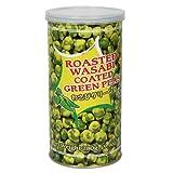 Tasty Joy Roasted Wasabi Coated Green Peas, 9.9-Ounce Can (Pack of 6) ~ Tasty Joy