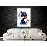 Posters | Posters For Room | Posters For Boys | Poster Art Abtract Girl Art Water Color Digital Poster Art- Improve...