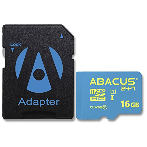 Abacus24-7 16GB Micro SD Class 10 Memory Card [SD Adapter] For LG Aspire (LN280), LG Enact VS890, LG F60, LG G3...