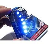 (ミルキー)milkee カーセキュリティライト 警告ライト 青光 盗難防止 ダミー  6 LED撃退 配線不要 ソーラー 充電 点滅