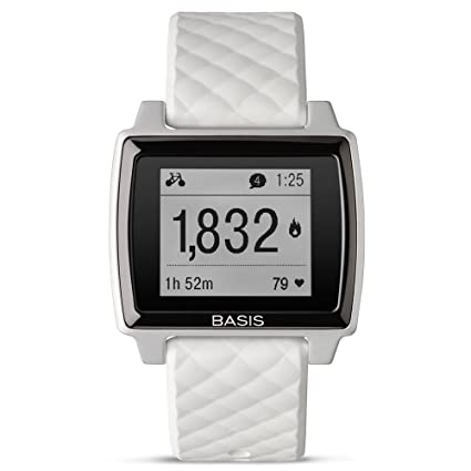 Basis Peak - Ultimate Fitness and Sleep Tracker (Brushed Metal/White)