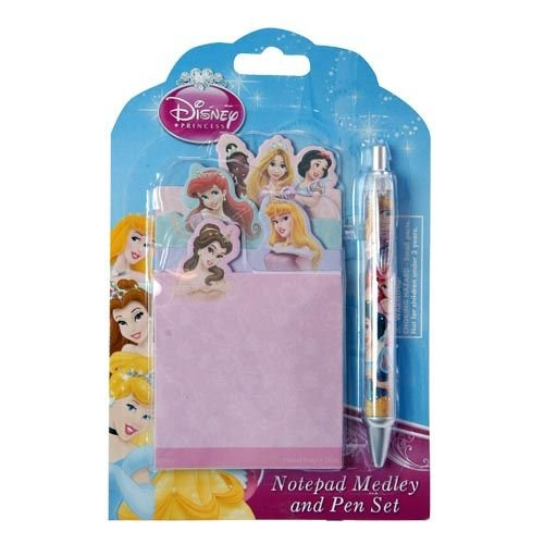 Disney Princess Personalized Stationery School Set with Notebook and Matching Bling Sparkle Pen