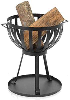 Ingarden Fire Pit Modern Classic Round Steel Outdoor Fire Basket from INGARDEN