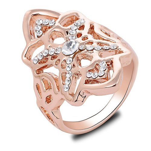 K-Design Love Endless Infinity Symbol Design Of High-End European And American Ring Copper Rhodium Ring