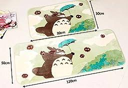 Sytian® 50*120cm Super Soft Non-slip Absorbent My Neighbor Totoro Area Rug Carpet Bedroom Bathroom Kitchen Floor Mat Shower Rug