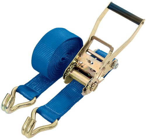 Draper 49489 50mm Wide x 8m 5t Heavy Duty Ratchet Tie Down Straps with D Rings