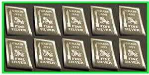 1 Gram .999 Fine Silver Eagle Bar