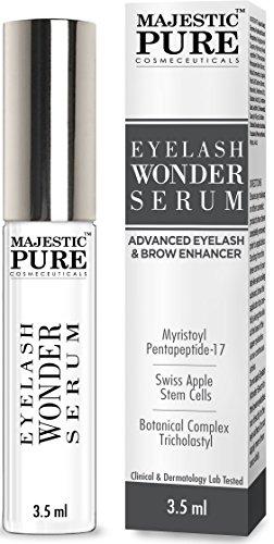 Majestic Pure Eyelash Growth Serum From - Cutting Edge Myristoyl Pentapeptide-17 & Swiss Apple Stem Cells Based Formula for Thicker & Longer Eyelashes and Eyebrows - 3.5ml
