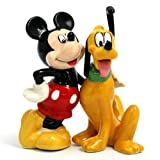Mickey Mouse and Best Friend Pluto Disney Character: Salt -N- Pepper Shaker