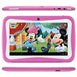 7 Inch Android 4.1 Jelly Bean Kid's Tablet PC for Children RK2928 1GHz 4GB Dual Camera WIFI Bluetooth Educational Note pad (Pink)