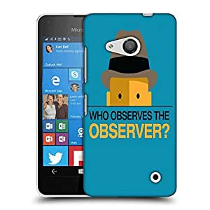 Snoogg who observes the observer 2843 Designer Protective Back Case Cover For Nokia Lumia 550