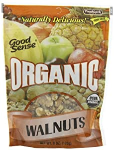 Good Sense Organic Walnuts, 6-Ounce Bags (Pack of 3)