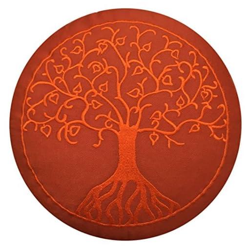 maylow-Yoga-mit-Herz-Meditationskissen-Yogakissen-mit-Stickerei-Baum-des-Lebens-terra