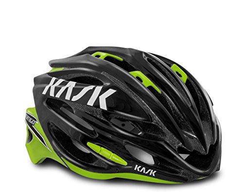 Kask Casco della bici VERTIGO 2.0 Nero LIME CM 48-58