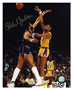 Los Angeles Lakers Kareem Abdul-Jabbar Autographed 8