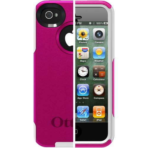 Otterbox Commuter Series Hybrid Case for iPhone 4 & 4S  – Retail Packaging – AVON Hot Pink/White