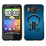 Hard Protection Case Cover Skin for HTC DESIRE HD / G10 - Headphones Music Beat