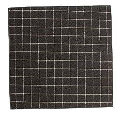 Orien Men Gentlemen Comfort Check Printed Handkerchiefs Pocket Square Hanky from Orien