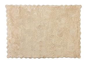 Aratextil. Alfombra Infantil 100% Algodón lavable en lavadora Colección Lisa Beige120x160 cms en BebeHogar.com
